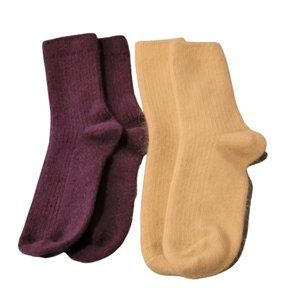 2 PAIRS OF NEW CASHMERE BLEND WARM & COZY WOMEN'S SOCKS